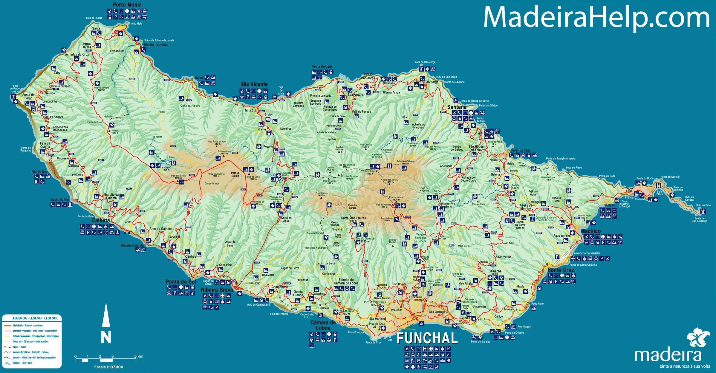 mapa de portugal e madeira Madeira Portugal mapa   Mapa ng Portugal Madeira (Southern Europa  mapa de portugal e madeira