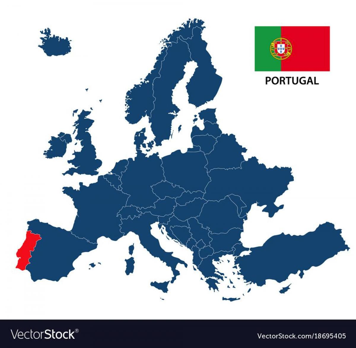 mapa de portugal na europa Europa mapa Portugal   Mapa ng Portugal sa Europa (Southern Europa  mapa de portugal na europa